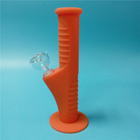 Orange Mini Silicone Water Bongs Ten Colors With 14mm Glass ...