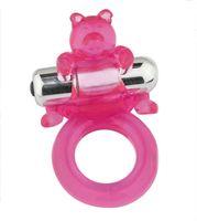 Bär Freisprecheinrichtung Silikon Penisring Vibrator Ejakulation Delay Sex Toys # R410