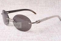 Lunettes de soleil rétro de mode ronde haut de gamme 8100903 Angle de mélange naturel Les lunettes de soleil de meilleure qualité hommes et femmes lunettes Taille: 58-18-140 mm