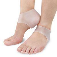 Silicone hydratant talon protecteur de soins de pied fissuré outil chaussettes chaussettes de gel avec de petits trous 1 paire de soins des pieds outil US03