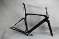 Carbon-Rennrad-Rahmen schwarz glänzend Rennrad Rahmen Radfahren Frameset ohne Abziehbilder Klarlack