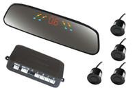 Big LED Sensores de aparcamiento de coches PZ306 Coche Crescent Beeper Radar de inversión Cuatro sondas Numeral LED Pantalla digital gratuito EUB Epacket