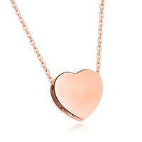 """ Be Always"" Rose Gold Color Plain Heart Shaped Kee..."