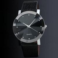 wholesale 50pcs lot mix 2colors diamond shape leather watch ...