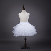 Brand New Mädchen Petticoats für Blumenmädchen Kleid Hochzeit 3 Ebenen Hoopless weiß Kurz Kinder Formal Wear Krinoline Kinder / Kinder Underskirt