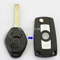 Новая замена флип складной флип ключ случае ремонт ключевых shell для BMW 3 5 7 серии Z3 Z4 E38 E39 E46 дистанционного автомобиля случае Fob HU92 лезвие
