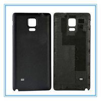 Samsung Galaxy Note Logo Ücretsiz Kargo ile 4 N910 Siyah Beyaz Arka Kapak Kapı Konut Kılıf için Yüksek Kalite Yeni Parçalar OEM Pil Kapı
