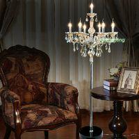 современные торшеры спальня роскошное Хрустальное напольное освещение с абажуром современные торшеры фойе номер гостиница освещение гостевой комнаты