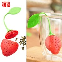 1 pc Food-Grade Silicone Strawberry Design Losse theeblad Steam Herbal Spice Infuser Filter Tools