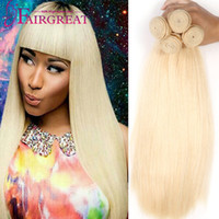 Brazilian Straight hair Weaves 613 Blonde Bundles Straight V...