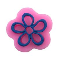 Stampo in silicone 3D Mini fiore pizzo stuoia farfalla bown DIY decorazione stampo di cottura per stampo cupcake