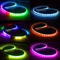 Auto 5050 Multi Color LED Strip Luz de maletero Crystal Flow Type DRL en Tailgate Box con Side Turn Signals Running lights