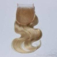 Best selling 613 Blond Hair Top Closures Brazilian Lace Clos...