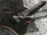 Rare 8 cordes Tosin Abasi Animals Leaders Signature Black Guitare électrique Acajou Body Rosewood Fingerboard MOP Dot Inlay Black Hardware