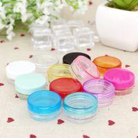200pcs 2g leeres Sahneglas, kosmetischer Behälter, 2g Miniplastikflasche kleines Zinn, kosmetisches Verpacken