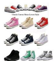 Neue hochwertige klassische top-high-top-leinwand casual schuhe sneaker männer / frauen leinwandschuhe größe eu35-45 retail
