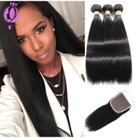 DHL Free Shipping Brazilian Hair With Closure Hair Bundles B...