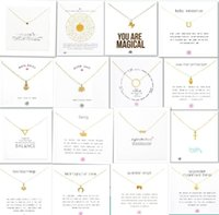With white card! Very cute! Gold plated clavicle Necklace wi...