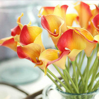 30pcs lot Artificial Calla lily Real Touch bride Bouquet flo...