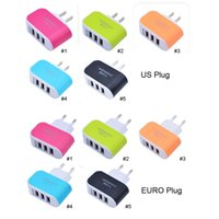 2017 US EU Plug 3 USB Wall Chargers 5V 3. 1A LED Adapter Trav...