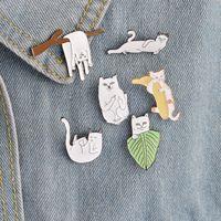 Cartoon Funny Cats With Banana On Branch Diseño Broche Insignia Pinback Button Corsage Hombres Mujeres Niño Joyería