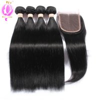 Top quality Brazilian Virgin Hair 4 Bundles Brazilian Straig...