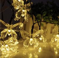 Patio im Freien / Garten / Rasen / Weg OriGlam 20 LED Solarbetriebene funkelnde Schmetterlings-Lichterketten