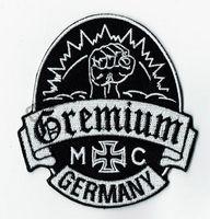 Kişilik Gremium Almanya Işlemeli Demir On Patch Demir On Motor Spor Kulübü Rozeti MC Biker Yama Dikmek Toptan Ücretsiz Kargo