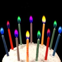 2018 Hot Sale 6Pcs Colored Birthday Cake Candles Safe Flames...