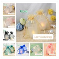 16 colors Pick- - - 100pcs 10*15cm Sheer Organza Bag Wedding Fa...