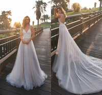 Berta Wedding Dresses Tulle A Line Bohemian Country Bridal G...