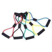 5 Renk Spor Direnç Egzersiz bantları Egzersiz Tüpler Pratik Elastik Eğitim Halat Yoga Çekme Halat Pilates ABS Egzersiz halatların