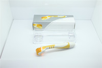TM-DR002 MOQ 1PC 540 Titan Nadeln LED-Lichttherapie Derma Roller Micro-Nadel Dermaroller rot blau grün gelb Licht für Akne behandeln