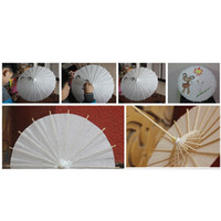 bridal wedding parasols White paper umbrellas Chinese mini c...
