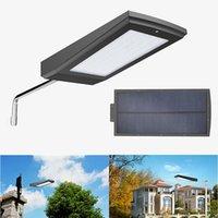 슈퍼 밝은 태양 LED 벽 램프 108led 15w 방수 IP65 거리 도로 정원 레이더 모션 센서 태양 광