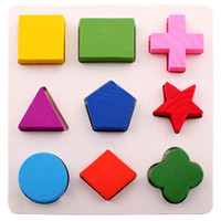 50pcs Wooden Geometric Puzzles Baby Kids Toys Montessori Gam...