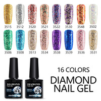 Modelones Blue Color Glitter UV Nail Gel Polish Shiny Color ...