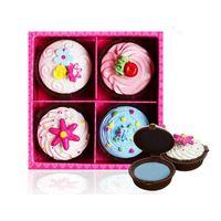 4pcs / Set Daily Cake 립글로스 4 가지 색상 오래 지속되는 누드 메이크업 Sweet Girl Cupcake 립 메이크업 방수 우아한 선물 ZA2452