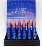 무료 배송! 새로운 메이크업 12 색 매트 립스틱 (12pcs / lots)