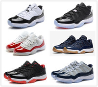 11s Low top classic 11 basketball shoes Bred varsity red UNC...