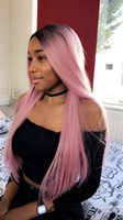 New beauty Fashion ombre straight full wigs simulation human...