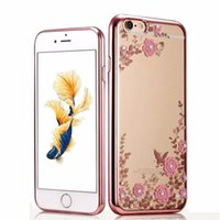 For iPhone 5S SE 6 6S Plus 7 Plus Case Luxury Flower Flora B...