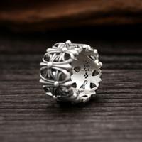 Brandneue 925 Sterling Silber Schmuck Amerikaner Europa Antike Silber Handgemachte Designer Dicke Ringe für Männer Frauen Kreuze Band Ringe Geschenke