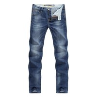 Men Jeans Business Casual Thin Summer Straight Slim Fit Blue...