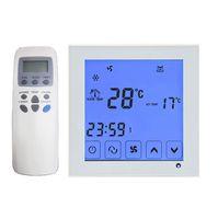 Freeshipping 2P 4Pタッチ画面のファンコイルプログラムサーモスタット温度コントローラー