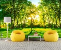 wallpapers for bed room custom 3d wallpaper living room Green forest landscape free photo wallpaper