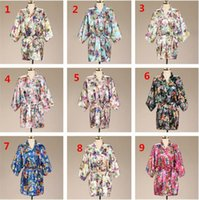 10pcs wedding short Bathrobe Silk Robes Satin Robes Womens P...