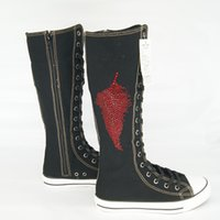 New arrival girls zipper knee high fashion boots female stud...