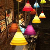 Modern Pendant Lights Fashion Simple Colorful Silicone Lamps...