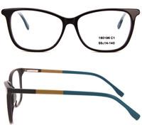 Kadınlar ve erkekler Oval Gözlük çerçeveleri Kırmızı Tasarımcı tam jant Asetat Optik Temizle çerçeve kılıf ile yüksek kaliteli Siyah Kombinasyonu 160196
